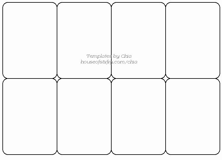 Printable Trading Card Template Best Of Templete for Playing Cards Artist Trading Cards