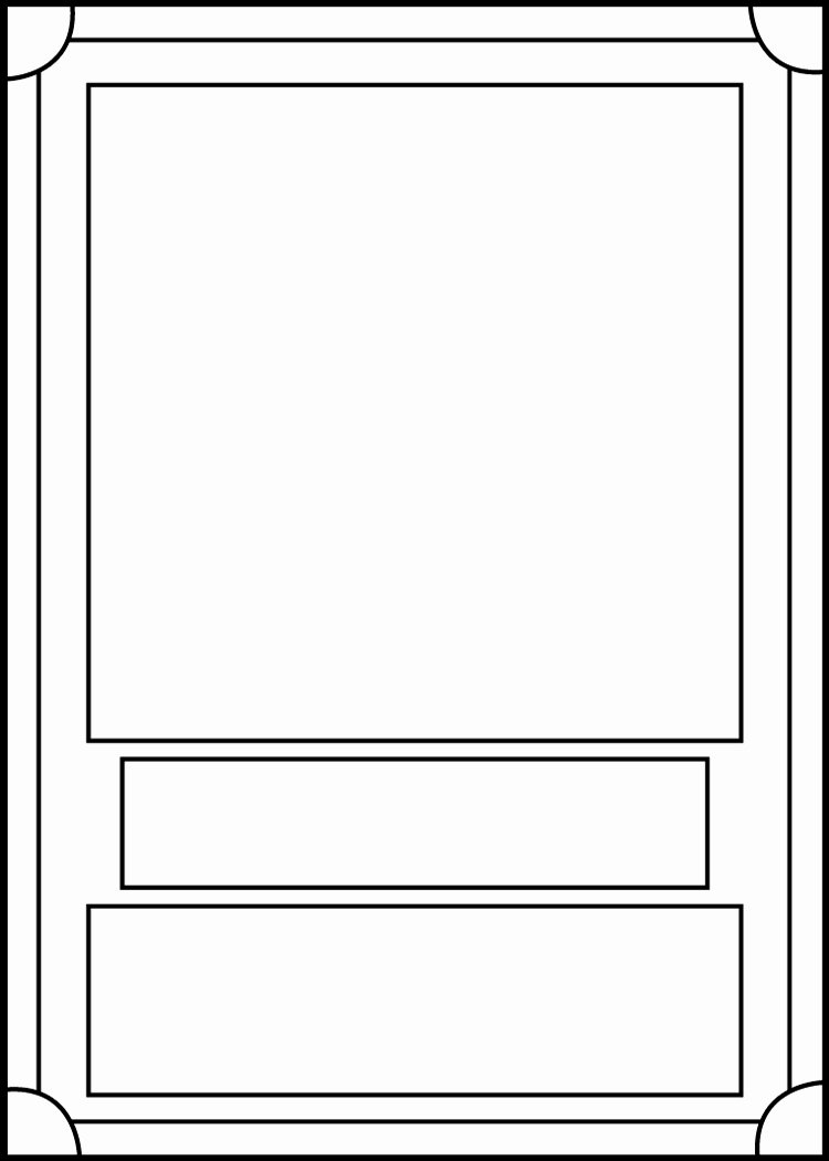 Printable Trading Card Template Elegant Trading Card Template