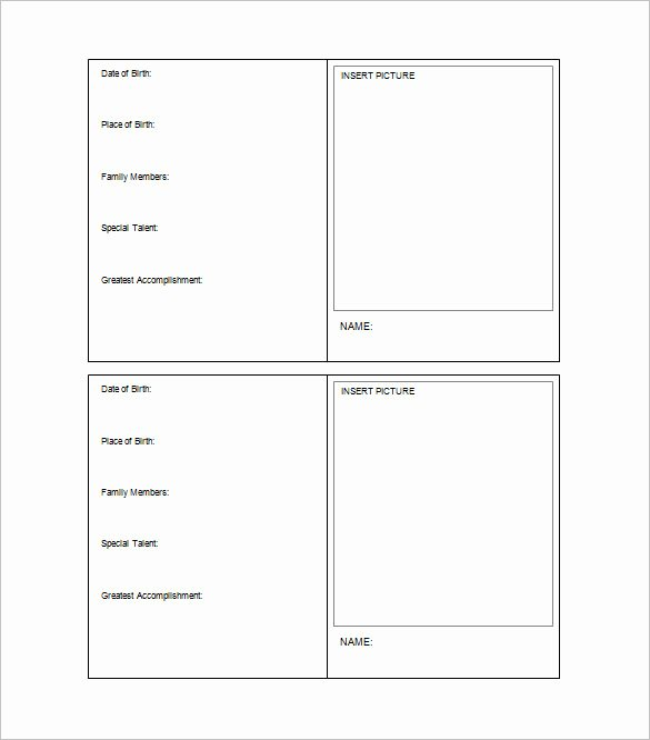 Printable Trading Card Template Unique Trading Card Template