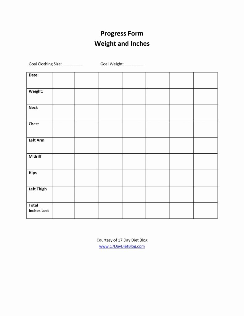 Printable Weight Loss Chart Template Beautiful 7 Best Of Printable Weight Loss Progress Chart