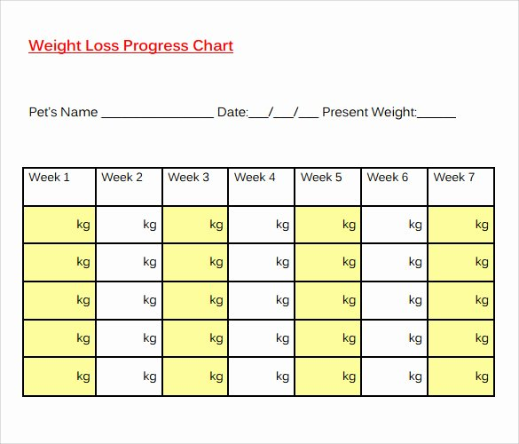 Printable Weight Loss Chart Template Beautiful 8 Sample Weight Loss Charts