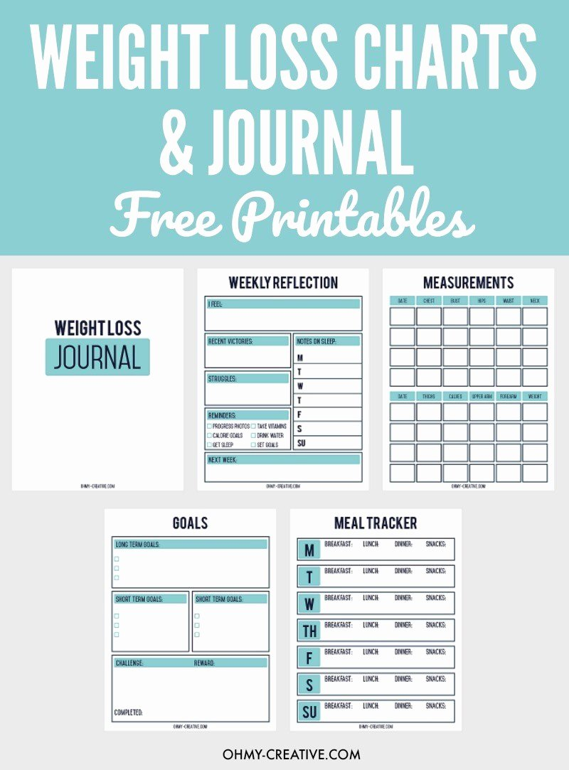 Printable Weight Loss Chart Template Best Of Printable Weight Loss Chart and Journal for Weight Loss