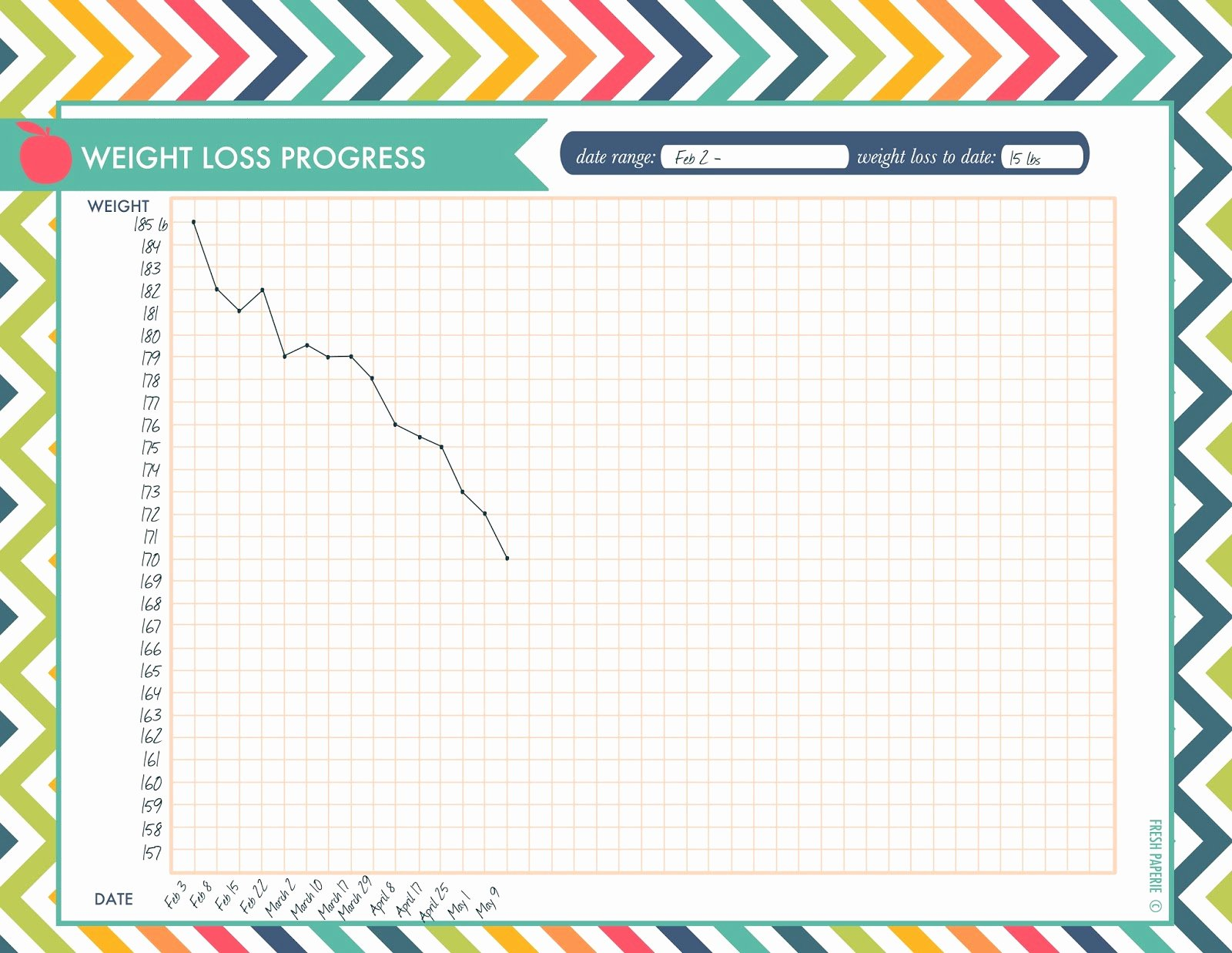 Printable Weight Loss Chart Template Lovely 7 Best Of Printable Weight Loss Progress Chart