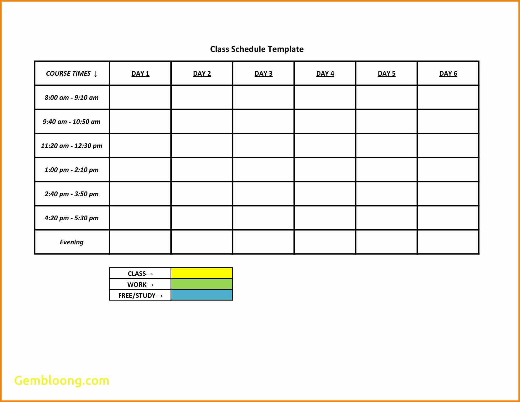 Printable Work Schedule Template Unique 18 Best Work Schedules