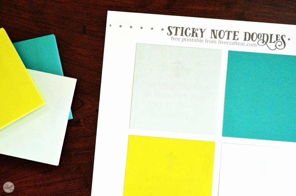 Printing On Post It Template Inspirational Printing Post It Notes Word Template Full Size