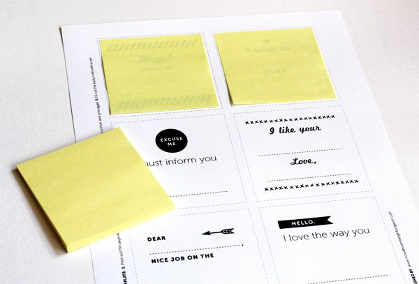Printing On Post It Template New Print Your Own Post It Notes