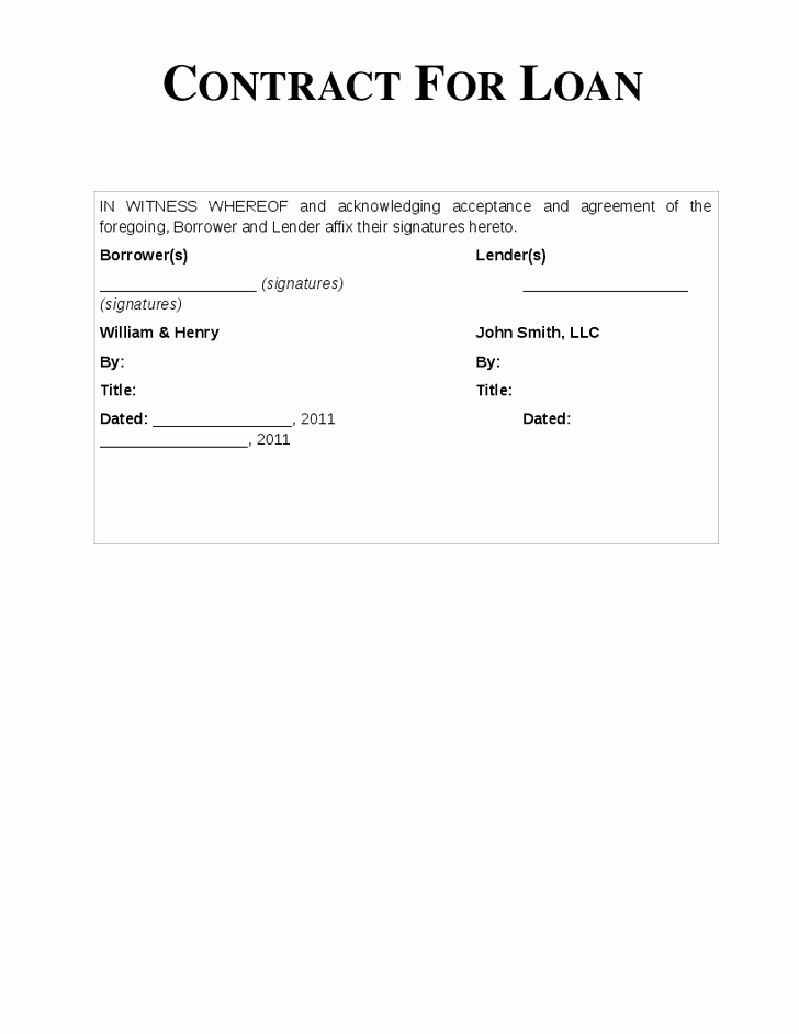 Private Loan Contract Template Lovely Loan Agreement format for Money Lending Vatansun