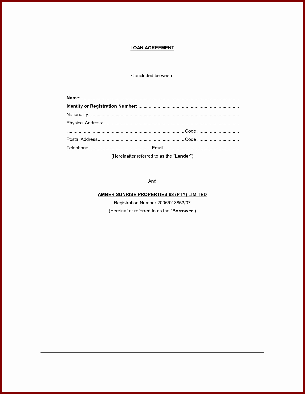 Private Loan Contract Template Lovely Personal Loan Contract Agreement form Sample Vatansun