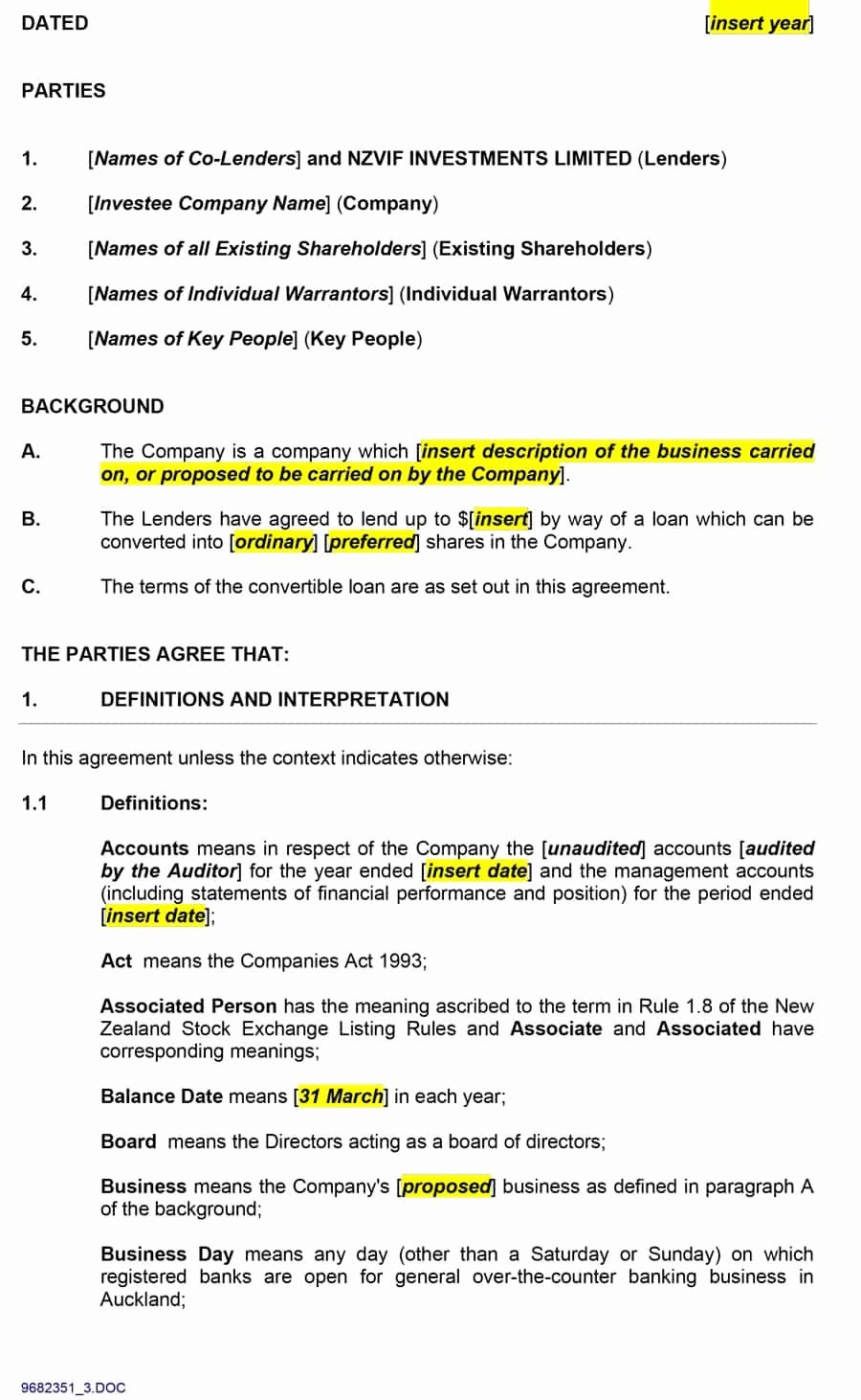 Private Loan Contract Template New 40 Free Loan Agreement Templates [word & Pdf] Template Lab