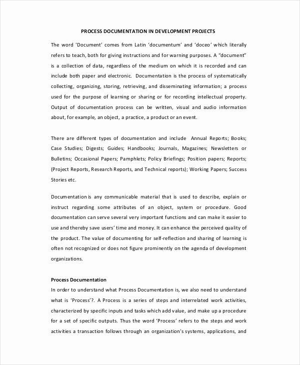Process Document Template Word Beautiful 9 Project Initiation Document Templates