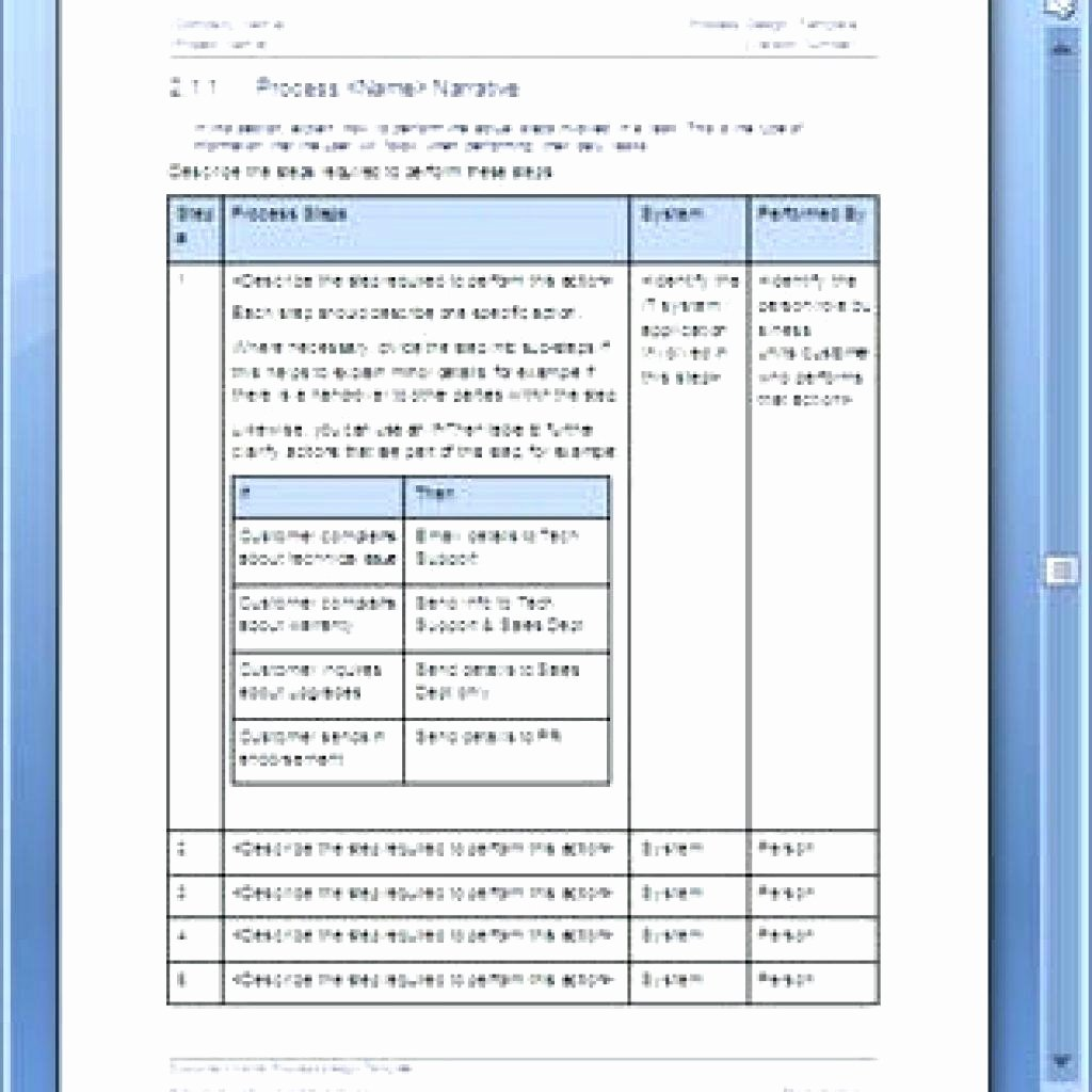 Process Document Template Word Best Of Template Template for Business Process Documentation