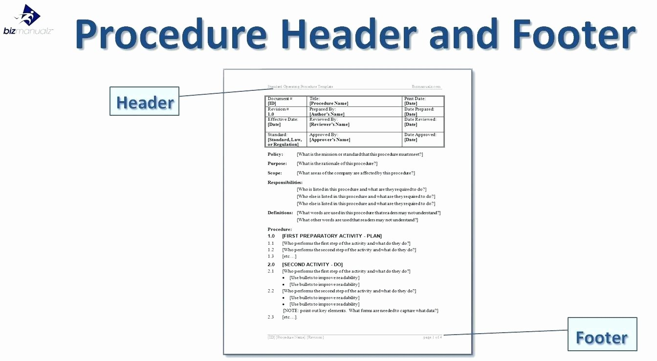 Process Document Template Word Lovely Process Documentation Template