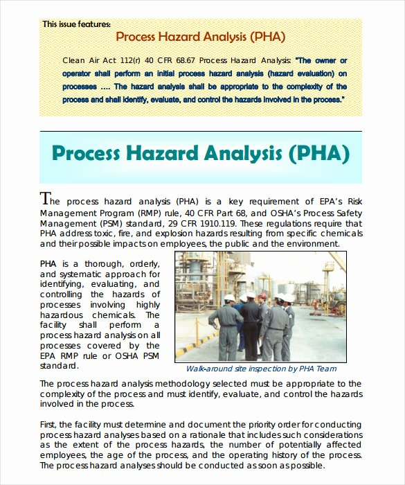 Process Hazard Analysis Template Beautiful Hazard Analysis Template – 11 Free Word Excel Pdf