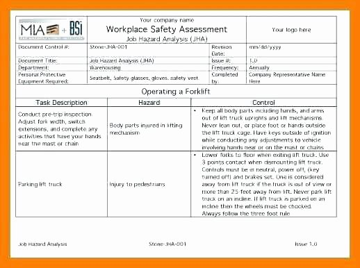 Process Hazard Analysis Template Elegant Job Hazard Analysis Template Doc Fresh Sample Risk