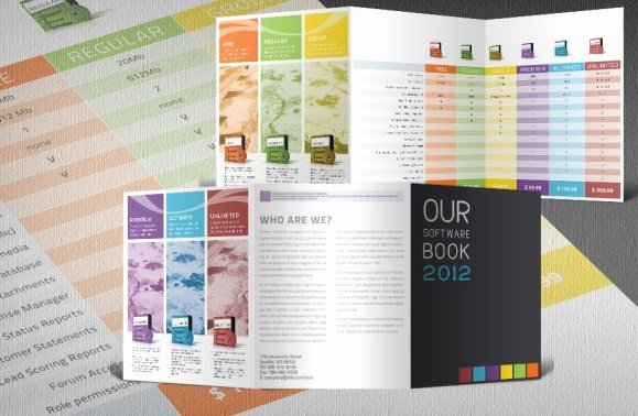 Product Catalog Design Template Awesome software Product Catalogue Tri Fold Template with