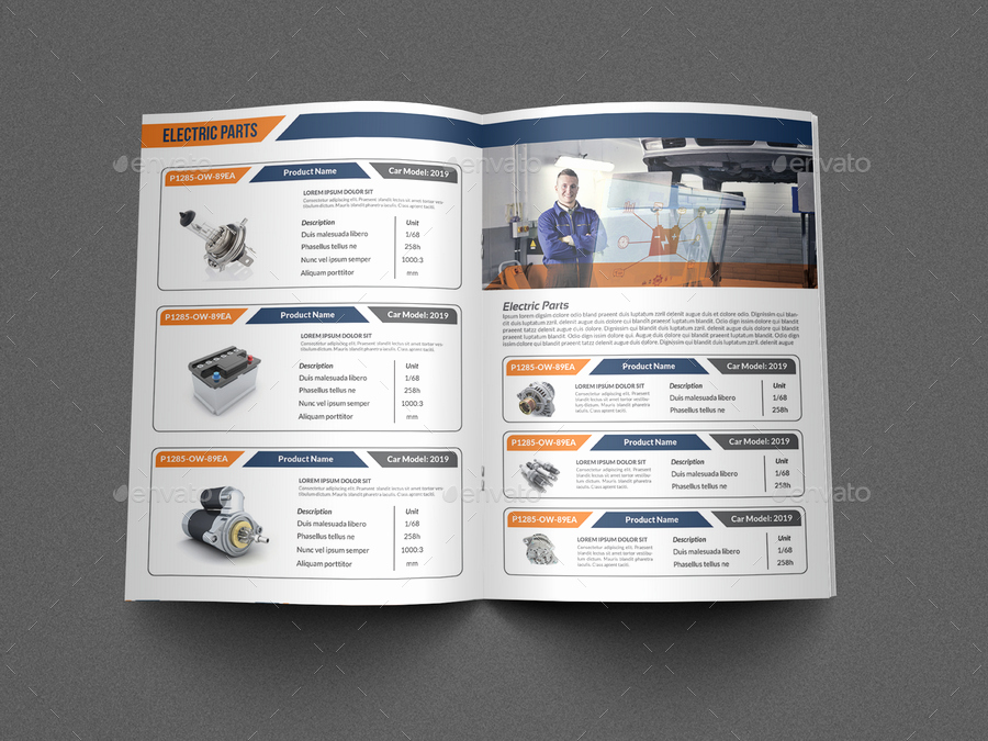 Product Catalog Design Template Elegant Auto Parts Catalog Brochure Template Vol 2 by Ow