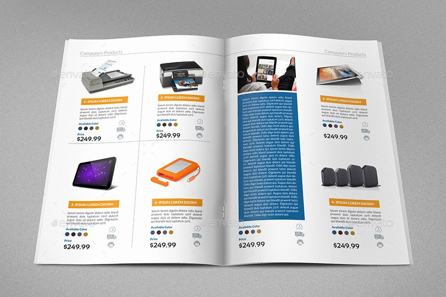 Product Catalog Design Template Fresh Products Catalog Brochure Template Vol2 24 Pages by