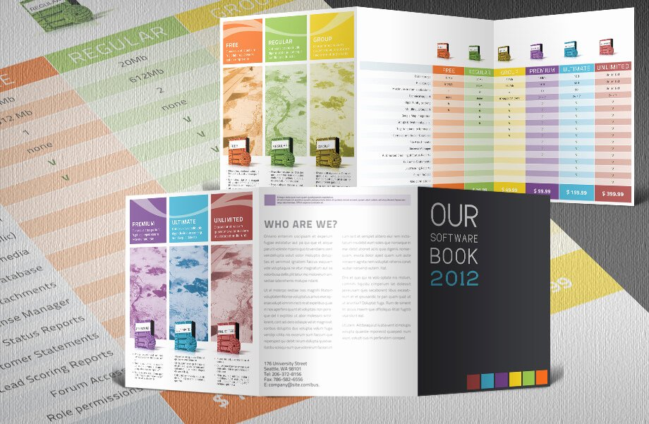 Product Catalog Design Template New software Catalogue Indesign Tri Fold Template