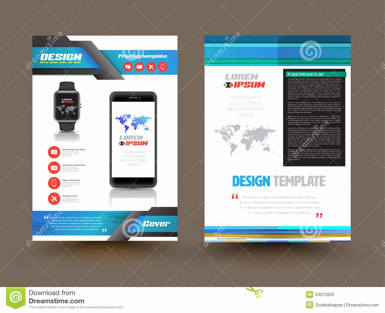 Product Catalog Design Template Unique Vector Brochure Template Design for Technology Product