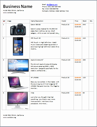 Product Catalog Template Word Best Of Ms Word wholesale Price List Template