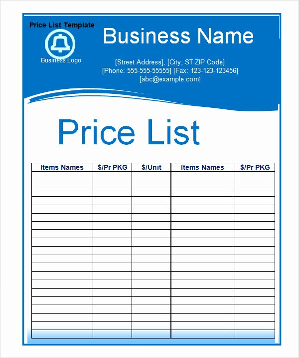 Product Catalog Template Word Unique 6 Sample Price List Templates