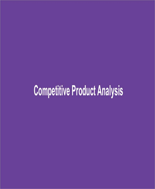 Product Competitive Analysis Template Inspirational 7 Petitive Analysis – Examples In Word Pdf
