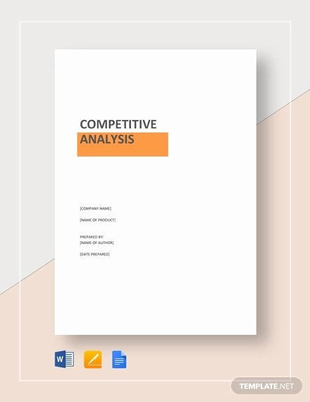 Product Competitive Analysis Template Unique 20 Petitive Analysis Templates Pdf Doc