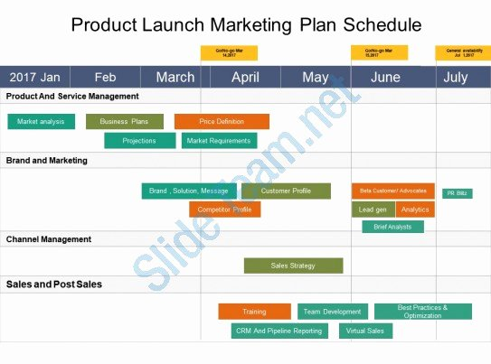 Product Launch Marketing Plan Template Awesome Style Variety 2 Calendar 1 Piece Powerpoint