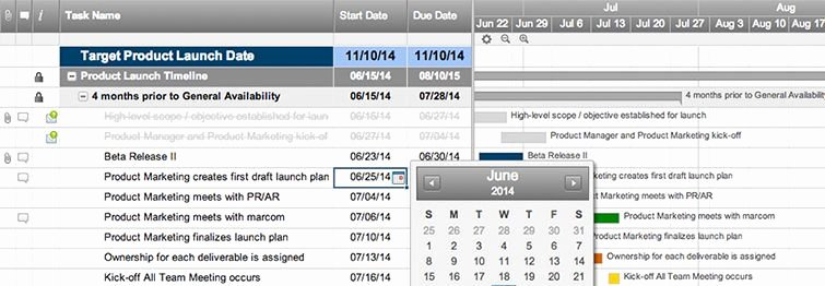 Product Launch Plan Template Inspirational Line Gantt Chart software