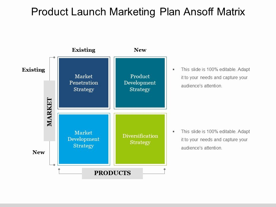 Product Launch Plan Template Inspirational Product Launch Marketing Plan Ansoff Matrix Ppt Background