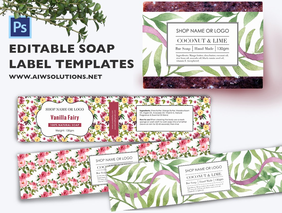 Product Line Card Template Awesome soap Label Template Id48