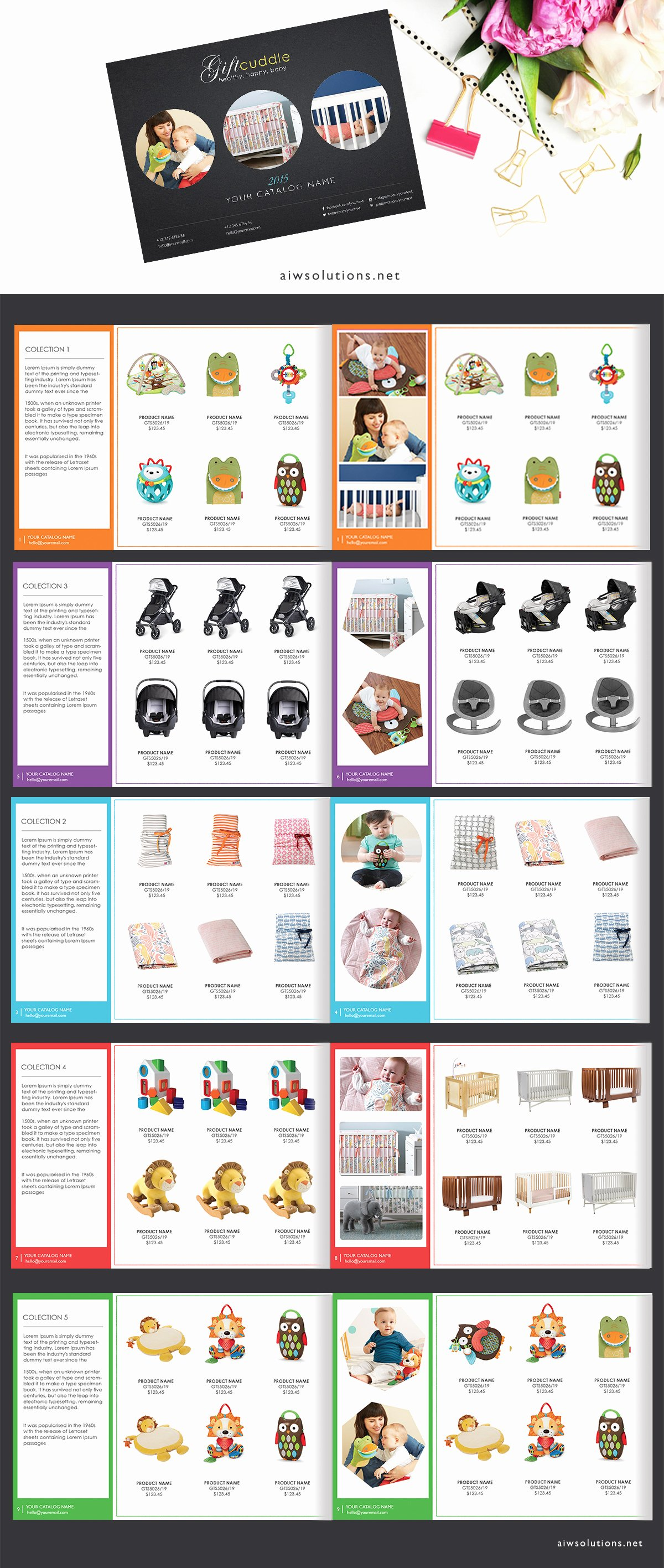 Product Line Card Template Fresh wholesale Catalog Template Product Catalog Indesign