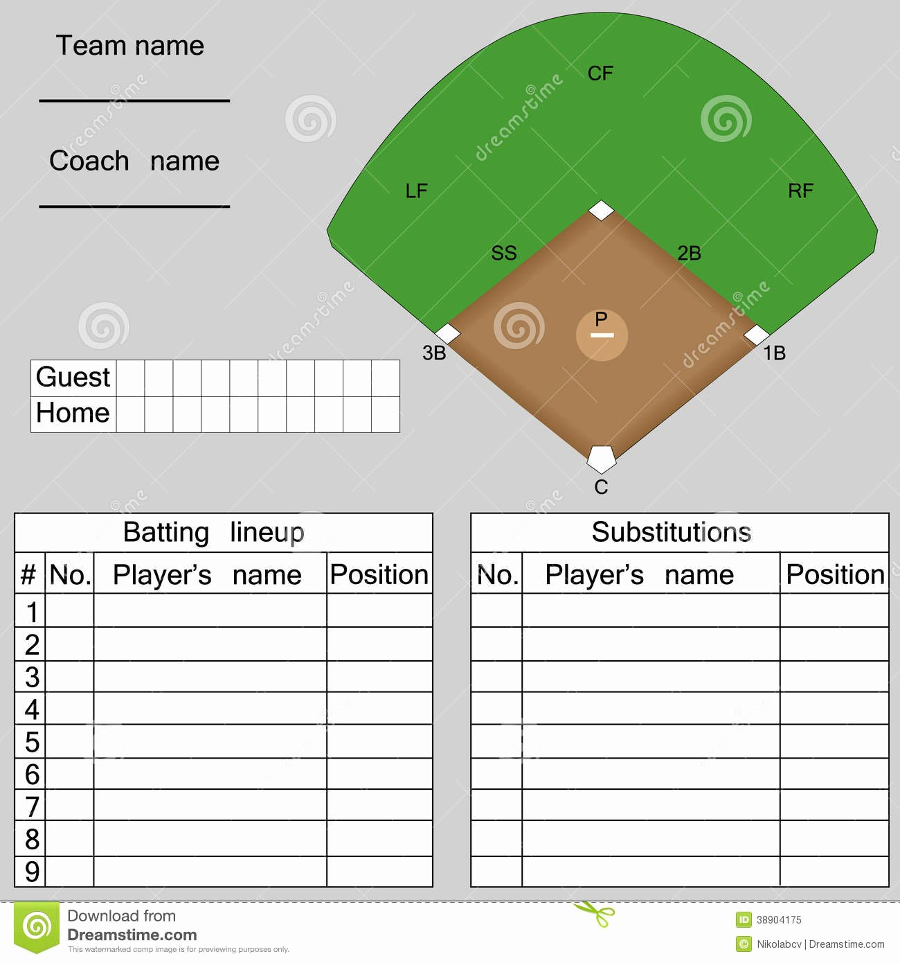 "Product Line Card Template Lovely Search Results for ""baseball Lineup Template"" – Calendar 2015"