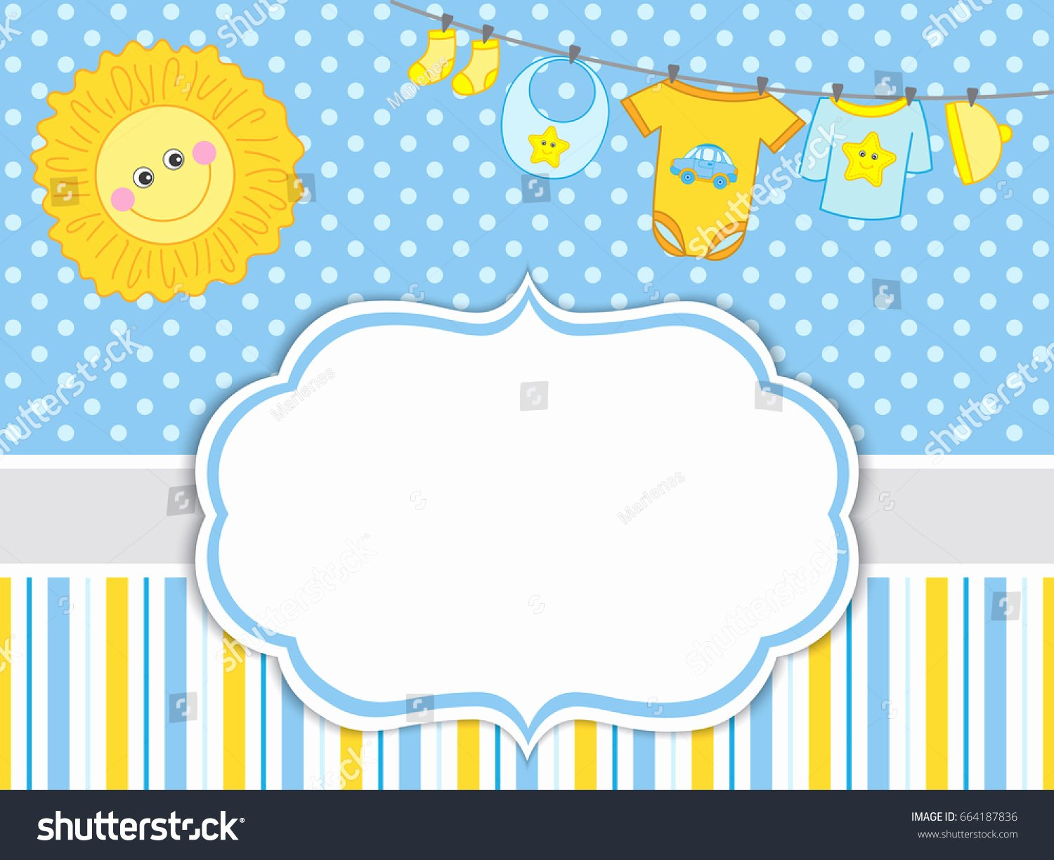 Product Line Card Template Unique Vector Card Template Baby Boy Clothes Stock Vector