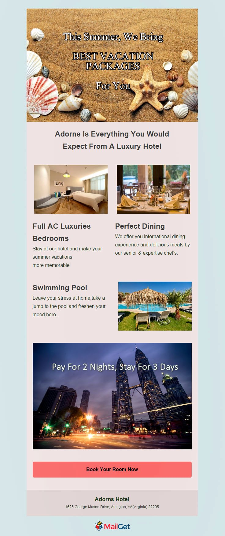 Product Promotion Email Template Best Of 5 Free Hotel Email Marketing Templates