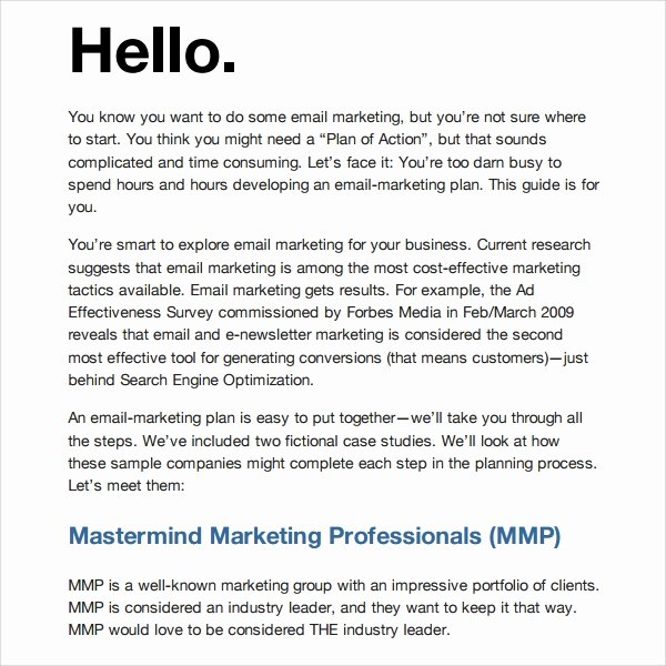 Product Promotion Email Template Elegant 13 Marketing Timeline Templates