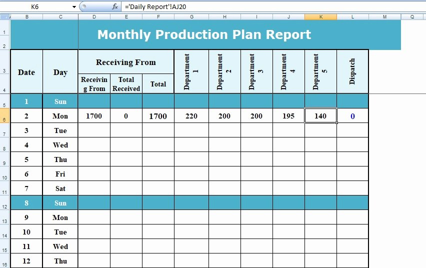 Production Planning Excel Template Elegant Excel format Of Production Planning Project Management