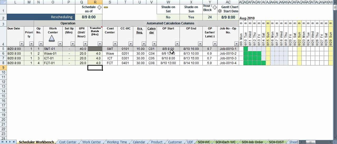 Production Planning Excel Template Lovely Scheduler123 Part A Excel Based Production Scheduling