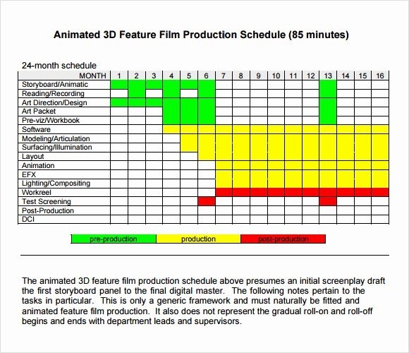 Production Planning Excel Template New Sample Shooting Schedule 12 Documents In Pdf Word Excel