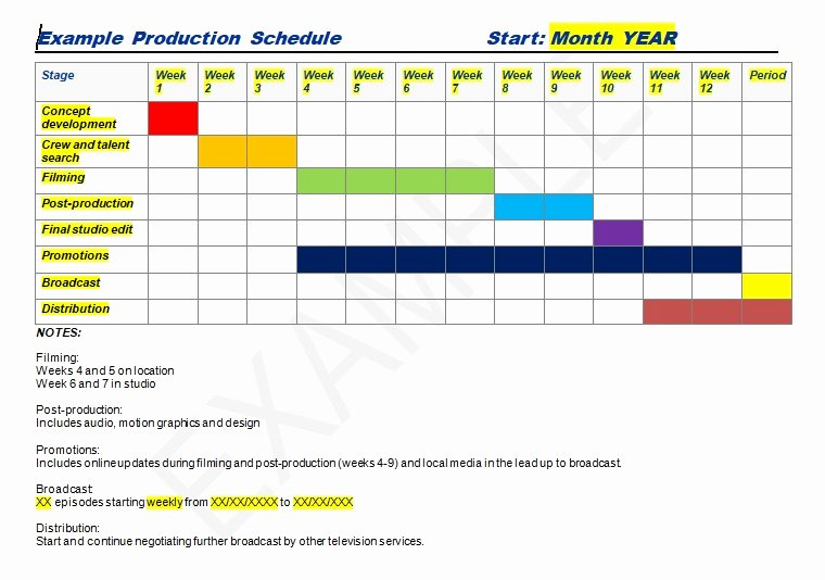 Production Schedule Excel Template Awesome Production Schedule Template Excel & Word Excel Tmp
