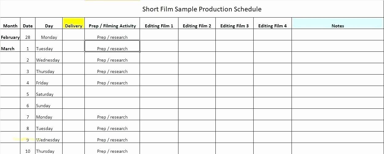 Production Schedule Excel Template Unique Production Scheduling Spreadsheet Chart Template Master