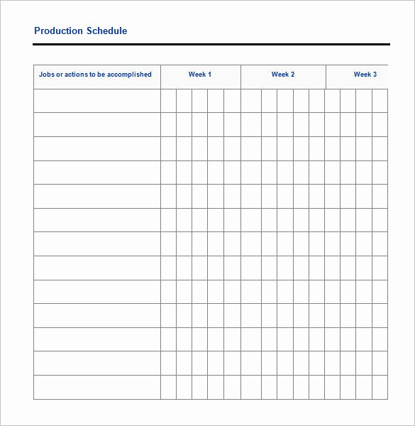 Production Schedule Template Excel Elegant 29 Production Scheduling Templates Pdf Doc Excel