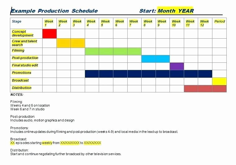 Production Schedule Template Excel Lovely Daily Production Schedule Template is Very Important for