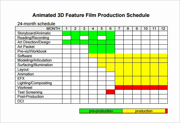 Production Schedule Template Excel Lovely Video Production Schedule Template