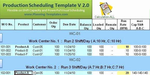 Production Scheduling Excel Template New Download Free Excel Production Schedule Templat