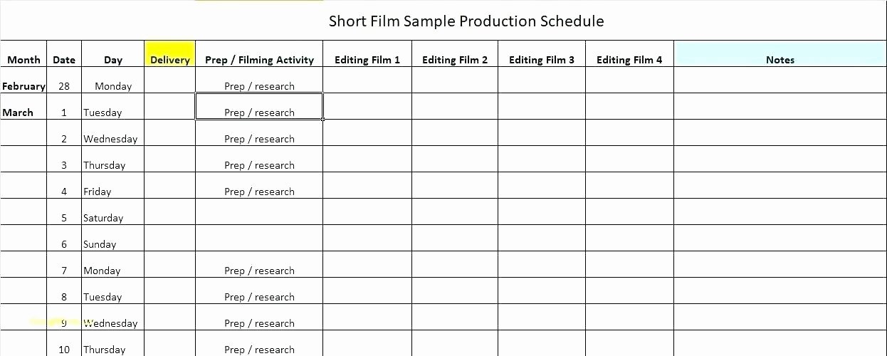 Production Scheduling Excel Template Unique Production Scheduling Spreadsheet Chart Template Master