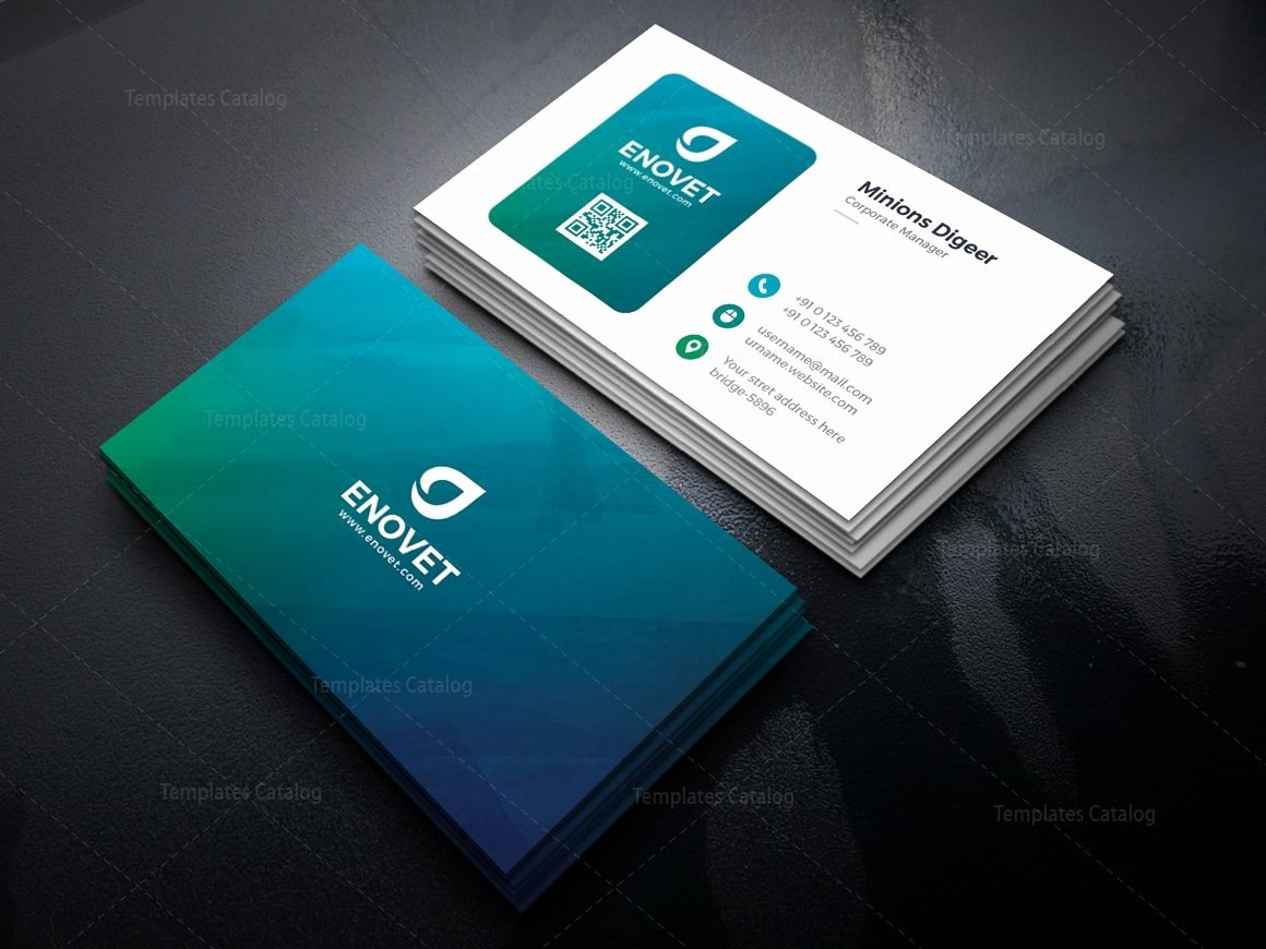 Professional Business Card Template Awesome Barracuda Professional Corporate Business Card Template