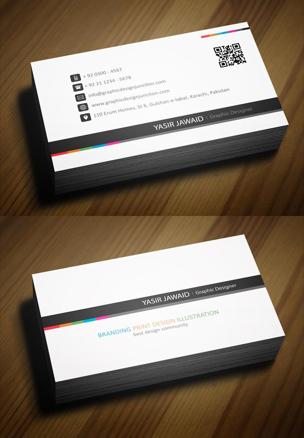 Professional Business Card Template Beautiful Free Business Cards Psd Templates Print Ready Design