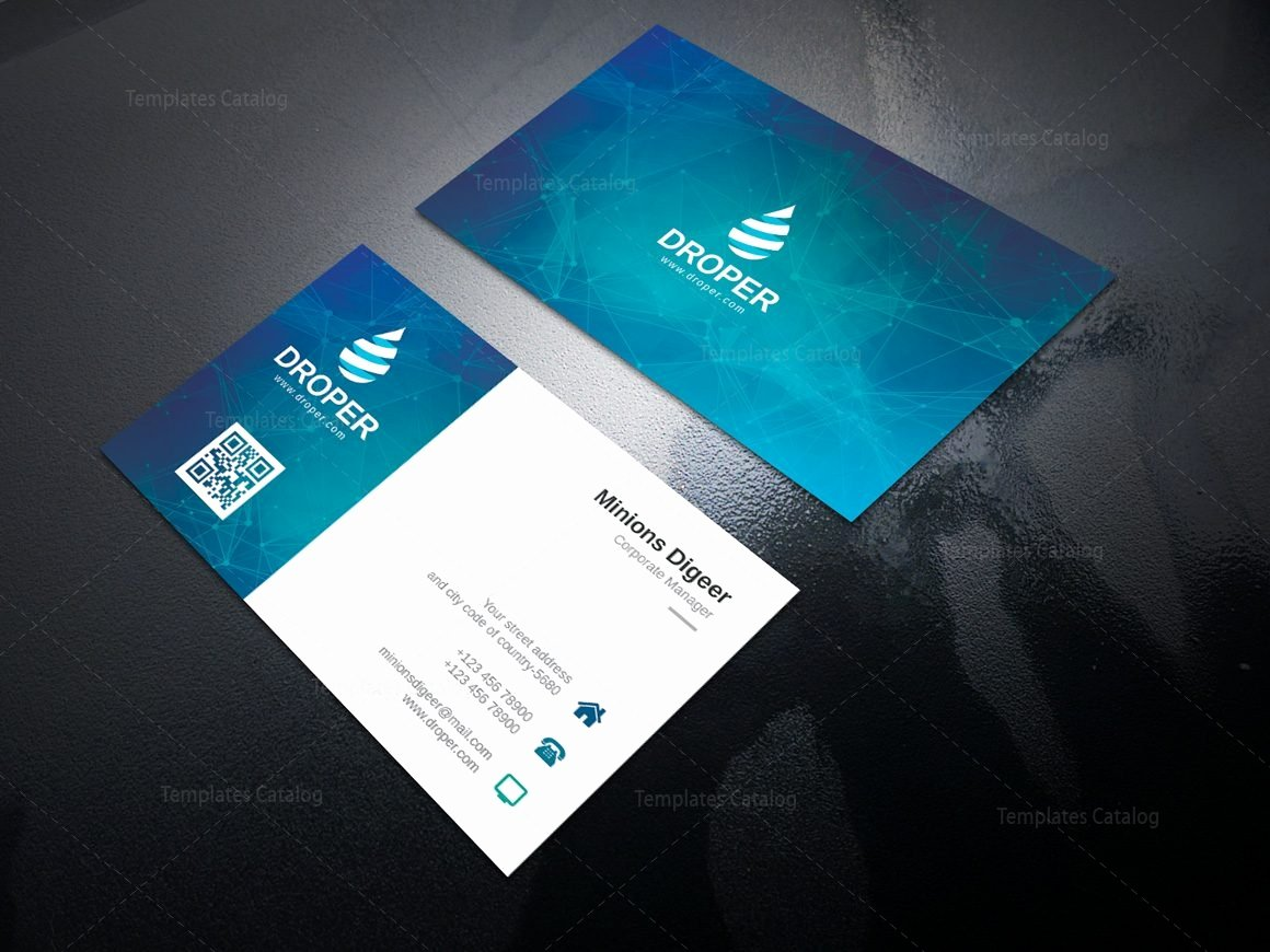 Professional Business Card Template Beautiful Neutron Professional Corporate Business Card Template