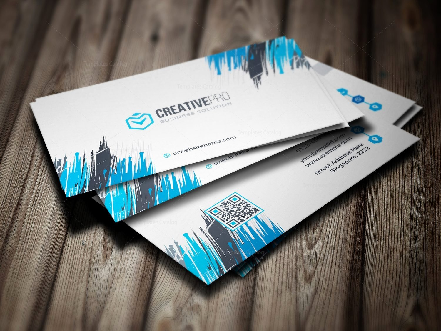 Professional Business Card Template Elegant Sharp Professional Business Card Template